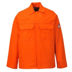 Bluza trudnopalna Bizweld Portwest BIZ2 trudnopalna spawalnicza bluza ochronna bhp do spawania ubranie spawacza przeciwodpryskowe niepalne pomarańczowe