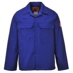 Bluza trudnopalna Bizweld Portwest BIZ2 trudnopalna spawalnicza bluza ochronna bhp do spawania ubranie spawacza przeciwodpryskowe niepalne niebieskie