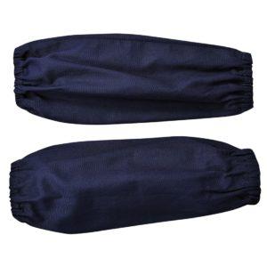 Rękawy spawalnicze Bizweld Portwest BZ11 rękawki dla spawacza trudnopalne ze ściągaczami ochronne bhp spawanie robocze granatowe