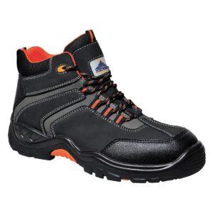 Trzewiki robocze PORTWEST Compositelite Operis S3 HRO buty trzewiki robocze mocne wytrzymałe s3 antypoślizgowe wysokie czarno pomarańczowe obuwie
