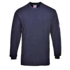 T-Shirt trudnopalny z długimi rękawami Portwest FR11 Antystatyczny spawalnicza koszulka długi rękaw trudnopalna antystatyczna antyelektrostatyczna mocna longsleeve do spawania ognioodporna granatowa