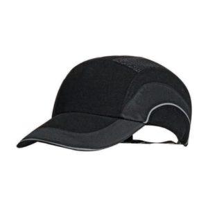 Hełm antyskalpowy lekki JSP Hardcap A1+ czarny 7cm czapka twarda czapka hełm hełm antyskalpowy czapka anstyskalpowa ochronna z wkładką ze skorupą wentylowana regulowana hardcap z daszkiem baseball