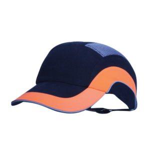 Hełm antyskalpowy lekki JSP Hardcap A1+ pomarańczowy niebieski czarny 7cm czapka twarda czapka hełm hełm antyskalpowy czapka anstyskalpowa ochronna z wkładką ze skorupą wentylowana regulowana hardcap z daszkiem baseball