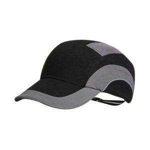Hełm antyskalpowy lekki JSP Hardcap A1+ szary czarny 7cm czapka twarda czapka hełm hełm antyskalpowy czapka anstyskalpowa ochronna z wkładką ze skorupą wentylowana regulowana hardcap z daszkiem baseball