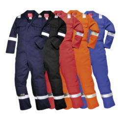 Kombinezon trudnopalny Bizweld IONA Portwest BIZ5 ostrzegawczy odblaskowy trudnopalny spawalniczy bawełniany odzież robocza ubranie spawacza ognioodporne z odblaskami różne kolory promo