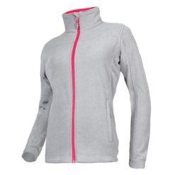 Bluza polarowa damska Lahti PRO L40106 polar ciepły bluzka polarowa damska dla kobiety roboczy polar ocieplany wiatroszczelny bhp ochronny bluza ciepła szaro różowa przód