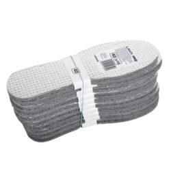 Wkładki do butów termiczne Lahti PRO L90302 10 par wkładki do obuwia zimowe termiczne izolacyjne ciepłe filcowe gąbkowe ogrzewające szare opakowanie