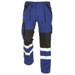 Spodnie robocze odblaskowe max reflex rflx niebieskie granatowe czarne z dwoma paskami odblaskowymi na dole