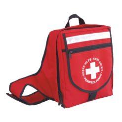 Apteczka Vera Szkolna 2 DIN 13157 Plus w Plecaku turystyczna na wyjazd na wycieczki wycieczkowa czerwona nieprzemakalna w plecaku na plecy wyjazdowa do szkoły przenośna w góry dla opiekuna