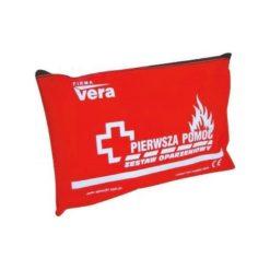 Zestaw oparzeniowy VERA apteczka na oparzenia pierwsza pomoc w przypadku poparzenia apteczka pierwszej pomocy zestaw pierwszej pomocy w saszetce czerwony