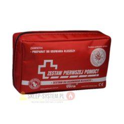 zestaw przeciwkleszczowy vera apteczka na kleszcze apteczka kleszczowa zestaw pierwszej pomocy na wycieczkę dla psa czerwony
