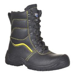 Trzewiki Ocieplane Portwest FW05 Steelite Protector S3 CI Zimowe obuwie buty robocze ochronne bhp ocieplane ciepłe do pracy z ociepliną zimowe zimówki czarne z żółtym