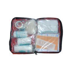 Apteczka VERA Classic Mini apteczka pierwszej pomocy samochodowa osobista kompaktowa w saszetce zestaw pierwszej pomocy czerwona wyposażenie