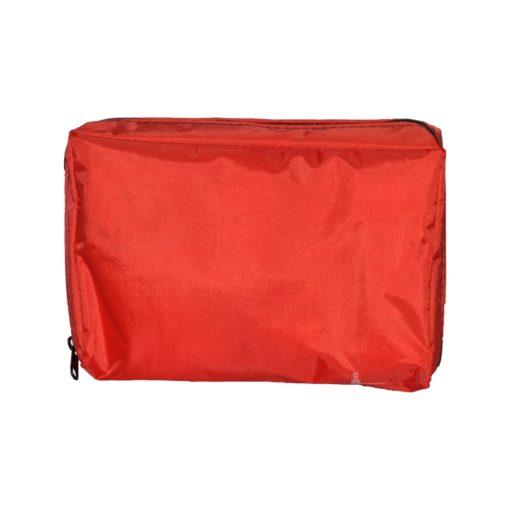 Apteczka VERA Classic Mini apteczka pierwszej pomocy samochodowa osobista kompaktowa w saszetce zestaw pierwszej pomocy czerwona tył