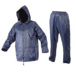 Komplet Przeciwdeszczowy Lahti PRO L4140 2 kolory spodnie kurtka bluza przeciwdeszczowe wodoodporne mocne na ubranie ubranie na deszcz nieprzemakalne nieprzepuszczalne z kapturem granatowe