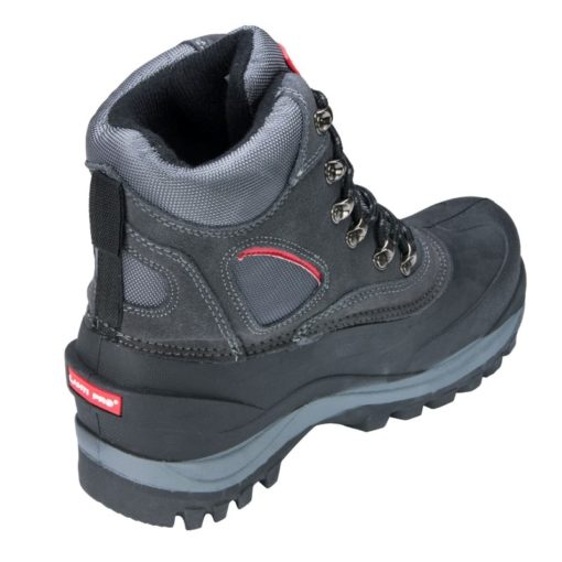 Śniegowce buty robocze Lahti PRO L30801 obuwie robocze ochronne mocne zimowe na zimę trzewiki wysokie za kostkę buty do pracy na dworzu dla robotnika rzemieślnicze czarne szare sznurowane z tyłu