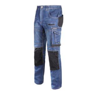 Spodnie Robocze Jeansowe Lahti PRO L40510 SLIM FIT spodnie do pasa w pas robocze ochronne bhp mocne wzmacniane z kieszeniami slim fit slimowane dżinsy jeansy niebieskie do pracy ciuchy robocze z kieszeniami mocne pracownicze monterskie rzemieślnicze