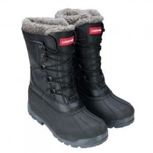 Śniegowce Lahti PRO L30802 zimowe obuwie robocze do pracy ocieplane futerkowe futrzane czarne tpr sznurowane na zimę ciepłe na śnieg ochronne bezpieczne zawodowe czarne