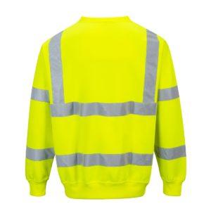 Bluza Ostrzegawcza Portwest B303 2 kolory klasyczna bluza robocza do pracy ochronna bhp wysoka widoczność drogowa przez głowę wciągana wysokiej widoczności ochronna bhp odzież robocza ciuchy do pracy żółta