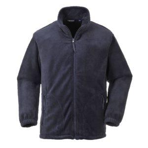 Bluza polarowa Portwest F205 Aran ciepła ocieplana bluza ochronna do pracy robocza korporacyjna na suwak polarek granatowy przód