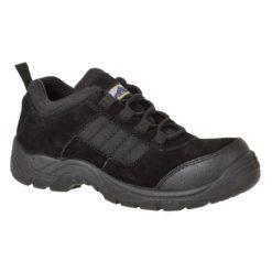 Półbuty robocze Portwest FC66 Compositelite Trekker S1 buty do kostki przed kostkę bezpieczne obuwie ochronne bhp z blachą z podnoskiem bez metalu zamszowe robocze do pracy zakryte czarne