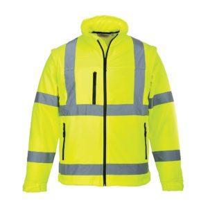 293e04ebbe83de Softshell ostrzegawczy (3L) Portwest S428 bluza kurtka ochronna bhp drogowa  odblaskowa z odblaskami do