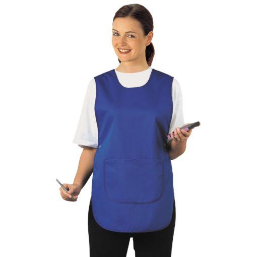 Fartuch z kieszenią Portwest S843 fartuszek dla kucharki dla woźnej z kieszonką woźnych do gotowania gastronomiczny na modelce niebieski