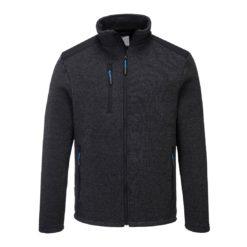 Bluza Portwest T830 Venture KX3 bluza ochronna do pracy wzmacniana zasuwana na suwak korporacyjna firmowa ciepła z suwakami ciuchy robocze ze wzmocnieniami poliestrowa bhp odzież robocza ubranie robocze z przodu czarna