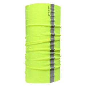 Chusta wielofunkcyjna Lahti PRO L1030100 chusta do biegania do pracy mocna komin czapka szalik zimowa jesienna wiosenna odblaskowa wysokiej widoczności hivis opaska robocza ochronna przeciwwiatrowa żółta
