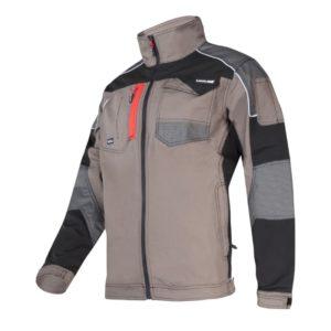 Bluza ochronna Lahti PRO L40410 bluza robocza ochronna bluzka bhp do pracy wysokiej jakości na suwak zapinana wzmocniona rozciągliwa stretch ze stójką lahti brązowa z mankietami na rzepy