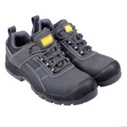 Półbuty ochronne Lahti PRO L30414 S3 SRC obuwie bezpieczne buty robocze do pracy bhp z blachą z podnoskiem z wkładką antyprzebiciową do kostki grafitowe czarne szare antypoślizgowe lahti s3 do pracy ochronne