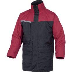Kurtka Ocieplana DELTA PLUS Alaska2 EN14058 3 kolory zimowa na zimę z atestem odblaskowa mocna en14058 ciepła z ociepliną gruba z kapturem czarna czerwona