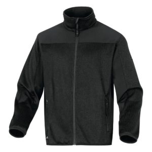 Bluza robocza delta plus beaver bluza ciepła na suwak 4 kieszenie softshell do pracy robocza ochronna ciuchy robocze odzież robocza mocna czarna