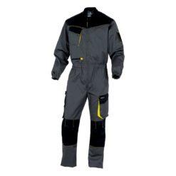 Kombinezon roboczy DELTA PLUS DMACHCOM ubranie robocze ochronne bhp do pracy ciuchy robocze strój jednoczęściowy dla mechanika delta panoply bhp grafitowy czarny żółty szary