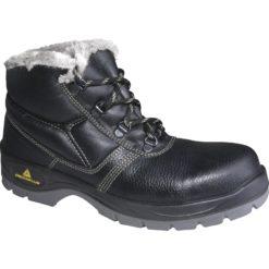 Trzewiki Ocieplane DELTA PLUS Jumper FUR S3 SRC obuwie wysokie za kostkę trzewiki robocze ochronne z blachą bhp podnosek wkładka antyprzebiciowe ocieplane na zimę do pracy trapery antypoślizgowe skórzane skórkowe buty
