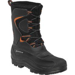 Trzewiki Ocieplane Delta Plus Lautaret 3 Śniegowce ocieplane robocze ciepłe buty na zimę do pracy wysokie trapery mocne sznurowane obuwie czarne z pomarańczowyym antypoślizgowe panoply deltaplus robocze ochronne bhp