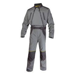 Kombinezon roboczy delta plus mccdz do pracy ochronny ciuchy robocze bhp na dwa suwaki ubranie robocze panoply delta szary grafitowy stalowy