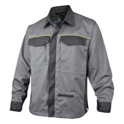 Koszula robocza DELTA PLUS MCCHE koszula do pracy odzież ochronna robocza ciuchy robocze na długi rękaw koszulina roboty szara grafitowa ciemnoszara