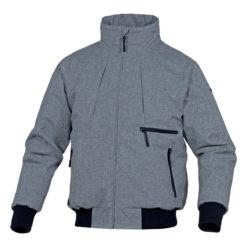 Kurtka Delta Plus Sanremo zimowa przeciwdeszczowa wzmacniana mocna na deszcz ocieplana zimowa ciepła kurtka panoply odzież robocza ochronna do pracy ciuchy szara czarna