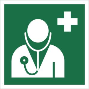 Znak Lekarz ISO 7010