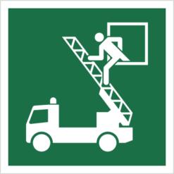 Znak okno ratunkowe piktogram bhp ewakuacyjny do ewakuacji fotoluminescencyjny świecący w ciemności bhp świadectwo cnbop pib iso 7010 zielony znak bezpieczeństwa