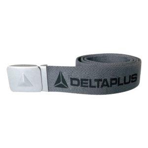 Parciany pasek do spodni DELTA PLUS Atoll roboczy ochronny bhp ciuchy robocze odzież do pracy delta panoply parciany poliester klamra automatyczna szary stalowy srebrny