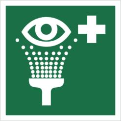znak prysznic do przemywania oczu piktogram bhp ewakuacyjny do ewakuacji fotoluminescencyjny świecący w ciemności bhp świadectwo cnbop pib iso 7010 zielony znak bezpieczeństwa