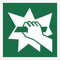znak stłuc aby uzyskać dostęp piktogram bhp ewakuacyjny do ewakuacji fotoluminescencyjny świecący w ciemności bhp świadectwo cnbop pib iso 7010 zielony znak bezpieczeństwa