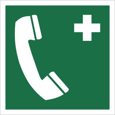 znak telefon alarmowy ewakuacyjny iso 7010 świadectwo cnbop-pib piktogram do ewakuacji oznakowanie nowa norma zielony biały świecący fotoluminescencyjny kenlight techem