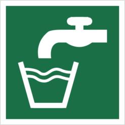 znak woda zdatna do picia piktogram bhp ewakuacyjny do ewakuacji fotoluminescencyjny świecący w ciemności bhp świadectwo cnbop pib iso 7010 zielony znak bezpieczeństwa