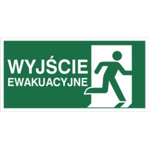 znak wyjście ewakuacyjne w prawo piktogram bhp ewakuacyjny do ewakuacji fotoluminescencyjny świecący w ciemności bhp świadectwo cnbop pib iso 7010 zielony znak bezpieczeństwa
