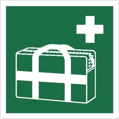 znak torba medyczna piktogram bhp ewakuacyjny do ewakuacji fotoluminescencyjny świecący w ciemności bhp świadectwo cnbop pib iso 7010 zielony znak bezpieczeństwa