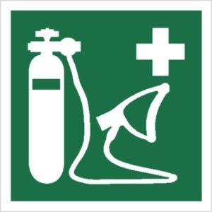 znak resuscytator tlenu piktogram bhp ewakuacyjny do ewakuacji fotoluminescencyjny świecący w ciemności bhp świadectwo cnbop pib iso 7010 zielony znak bezpieczeństwa