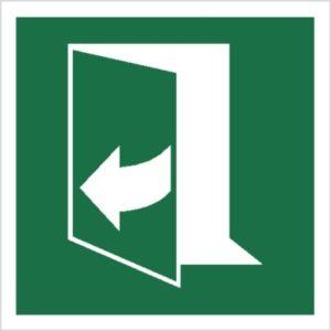 Znak ciągnąć z prawej strony, aby otworzyć piktogram bhp ewakuacyjny do ewakuacji fotoluminescencyjny świecący w ciemności bhp świadectwo cnbop pib iso 7010 zielony znak bezpieczeństwa